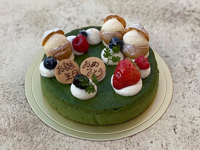 静岡茶のチーズケーキ